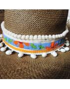 Décoration de chapeau ceinture style hippie et bohème chic