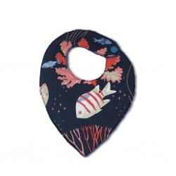 Bavoir bandana mer de corail