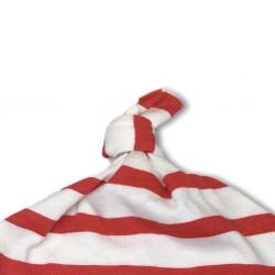 Bonnet le marinier rouge finition par noeud