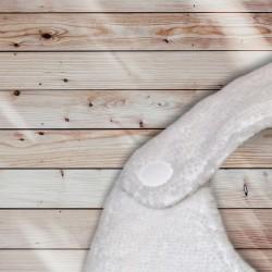 Bavoir broderie anglaise fermeture par bouton pression blanc