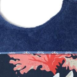 Bavoir mer de corail bleu nuit