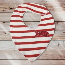 Bavoir bandana marinier rouge