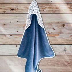 Cape de bain liberty bleu