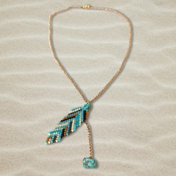 COLLIER FEMME CALI TURQUOISE