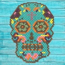 Broche tête de mort mexicaine