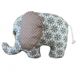 Elephant doudou flower grand modèle
