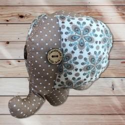 Eléphant doudou flower petit modèle
