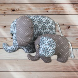 Eléphant doudou flower petit modèle et grand modèle