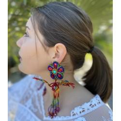 Boucles d'oreilles Colibri rouges