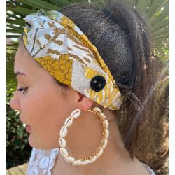 ALOE Boucles d'oreilles créoles coquillages