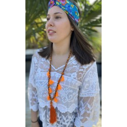 Collier sautoir ACENTO orange