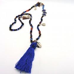 ADA Collier sautoir bleu électrique