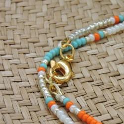 Chevillère BELLA Turquoise/Orange