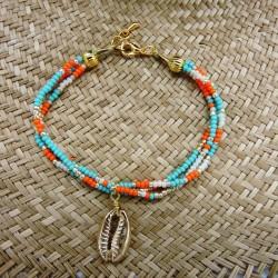 Bracelet BELUKA Turquoise/Orange