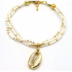 Bracelet BELUKA BLANC/DORE