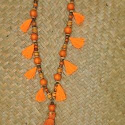 Collier sautoir ACENTO orange