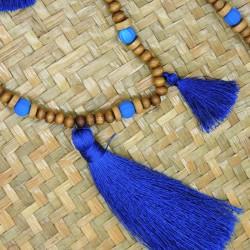 Collier sautoir ACENTO bleu électrique