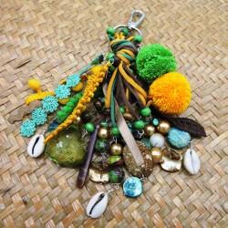 Porte clés AFRODITA vert jaune
