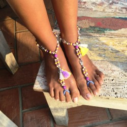 Barefoot AGOSTO Jaune /Violet