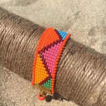 bracelet Bilbao for woman orange bohemian