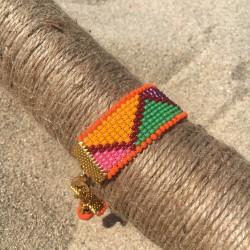 bracelet Bilbao for woman bohemian orange