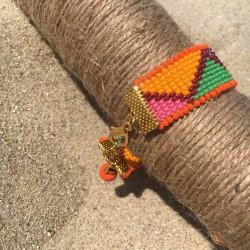 bracelet Bilbao for woman orange beads