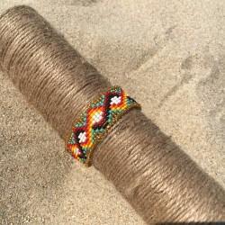 BRACELET BILBAO doré multicolor turquoise arabesque BOHEME
