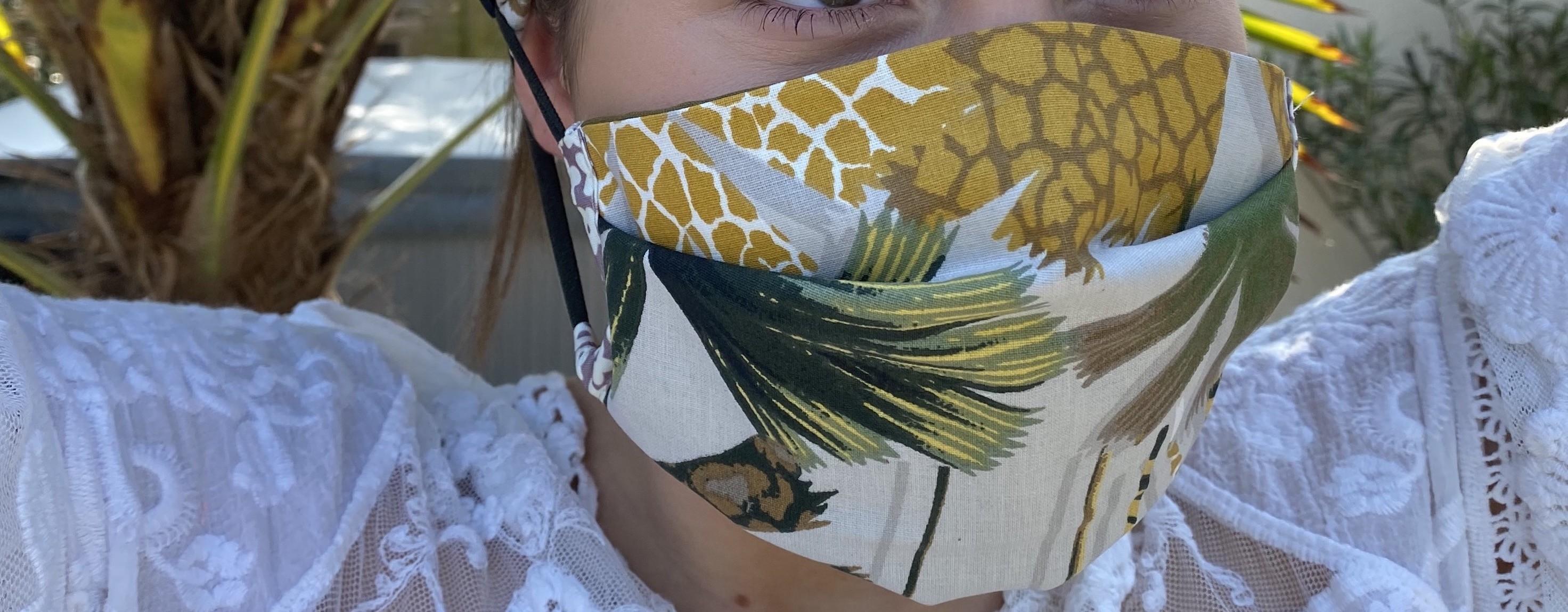 Gamme de masques en tissu pour hommes, femmes et enfants